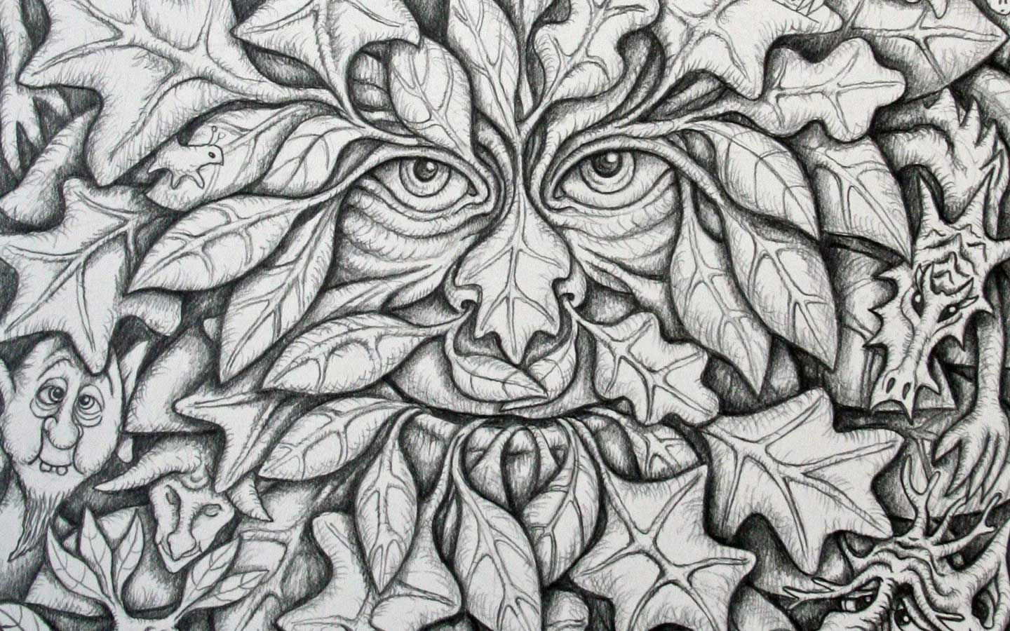 green man coloring pages - photo#14