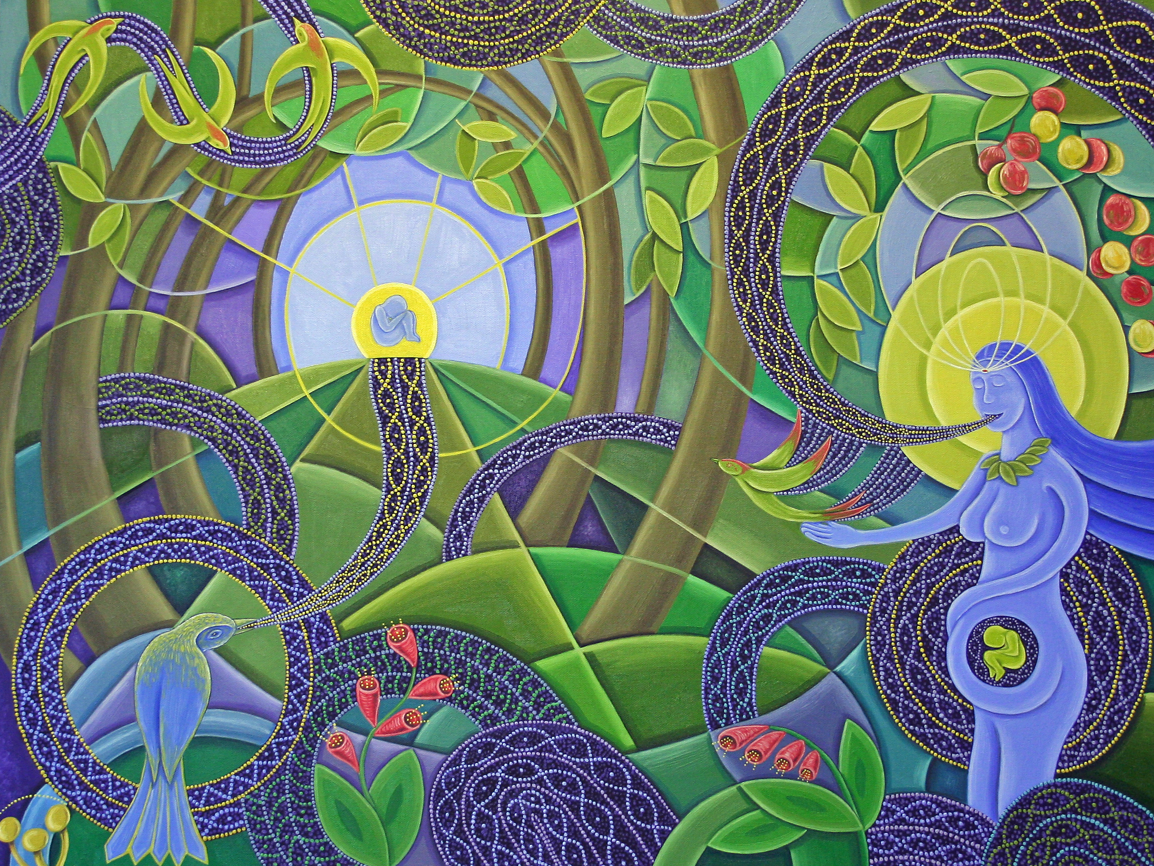 We Are Nature - oil on canvas - 48x36 inches - SOLD