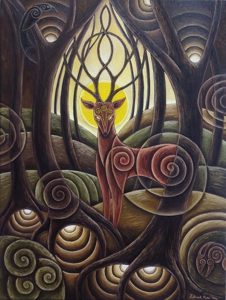 Deer at Dusk - oil on canvas - 18x24 inches - SOLD